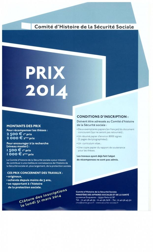 Prix CHSS 2014